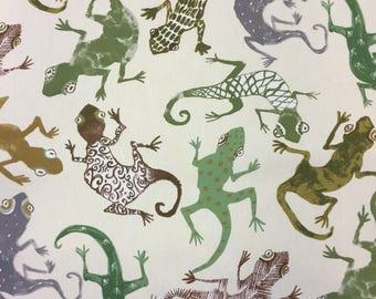 Edinburgh Weavers Gecko cotton print fabric by the metre