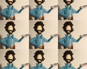 Bob Ross Felt Doll. Bob Ross happy little accidents. Art. Beat the Devil out if it. Happy little trees. Memorabilia. PeaceMan