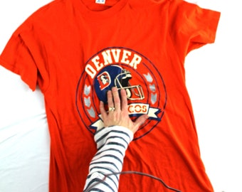 AS IS Vintage Denver Broncos T Shirt sz L