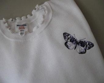"""Embelli de papillon (""""SUPER SUEURS"""") Sweat-shirt avec col ébouriffé - grand"""