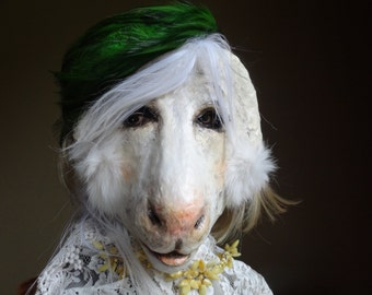 Sweetest Thing Paper mache goat mask goat costume