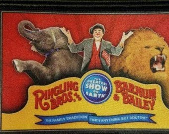 Vintage RINGLING BROS Barnum & Bailey Circus patch David Larible