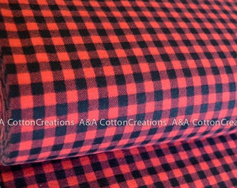 Quilting Cotton, Burly Beavers Fabric, Red Black Plaid Fabric, Hipster fabric, Apparel Fabric, Robert Kaufman