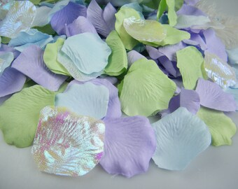 300 Rose Petals | Unicorn Party | Beach Wedding | Mermaid Party Decoration | Flower Basket Petals | Pastel Colors Artificial Flowers