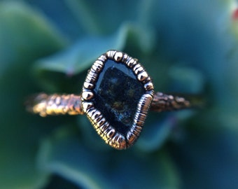 Labradorite | Labradorite Ring | Mineral Ring | Labradorite Stone | Labradorite Jewelry | Copper Ring | Ready-To-Ship