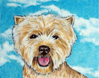 25% off West Highland White Terrier with the Sky Dog Art Tile