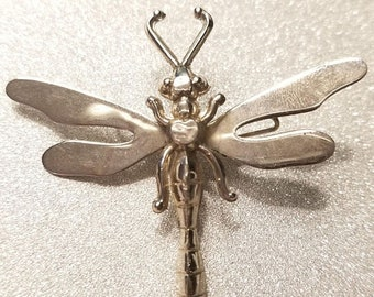 ON SALE  : Vintage Sterling Dragonfly Pin Scarf Pin