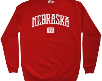 Nebraska 402 Sweatshirt - Men S M L XL 2x 3x - Crewneck Nebraska Shirt - 4 Colors