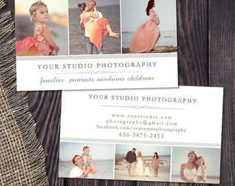 Photography Business Card Template for Photographers 003, Instant Download