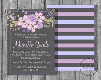 Baby Shower Invitation / Baby Shower Invitation Girl / Baby Shower Invitation Girl Printable / Floral Baby Shower Invitation / Shower Invite