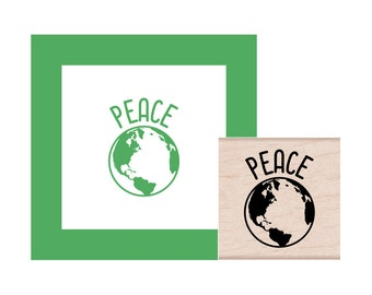 Peace on Earth Rubber Stamp