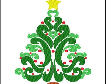 Christmas Tree Embroidery Pattern Design