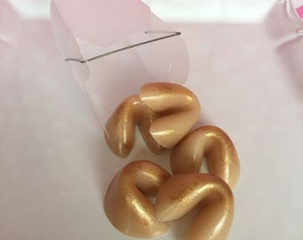 Fortune Cookie Soaps - Guest Soap - Cookie Soap - Dessert Soap - Party Favors - Fortune Cookie - Handmade Soap - Chinese Food Soap
