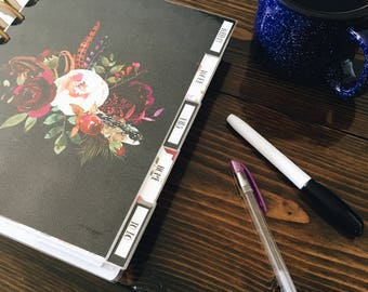 Planner DIVIDERS, Disc Bound Dividers, A5 Dividers, TUL Dividers, Arc Dividers, Levenger Dividers, ECLP Divider, Laminated Dividers