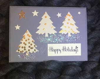 Merry Christmas cards, Happy Holiday cards, handmade cards, Christmas tree