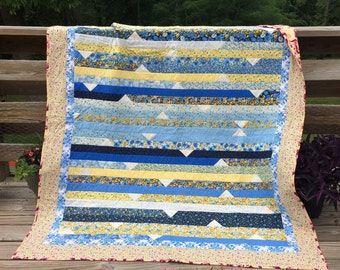Handmade Lap Quilt Throw Picnic Blanket