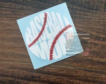 Baseball Mom Decal | Sports Mom | Baseball Decal | Baseball Mom Car Decal | Baseball Decal for Yeti