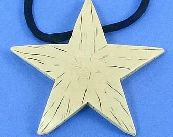 Star Vintage Necklace Pendant SaLe Faux Bone That 70's Show Groovy Goth Mod Statement Lucite Hippie Rockabilly Black Satin Boho Disco Unique