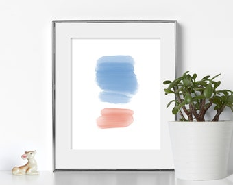 Watercolor Print Digital Download Printable Art Abstract Wall Print 8x10 Prints Digital Art Chill Art Office Prints Bright Colors Pastels