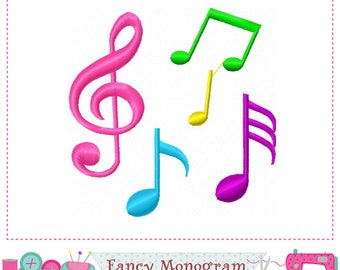 Musical Notes embroidery,Musical embroidery,Musical design,Band design,Band embroidery,Birthday embroidery,Party embroidery.-01