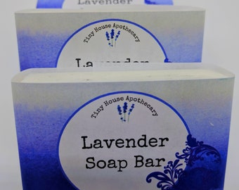 Lavender soap, floral soap, Mother's Day gift, rustic soap, lavender essential oil, cold process soap, coconut oil soap, gift soap