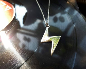 Lightening Bolt Solid Silver necklace