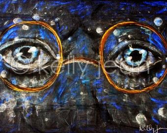 Great Gatsby Eyes 12x18 [PRINT]