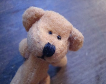 12 miniature, fully jointed, plush BEARS for crafts
