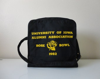 VINTAGE 1982 IOWA hawkeyes rose bowl BAG