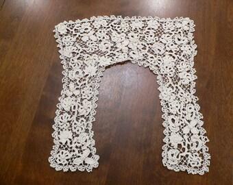 Victorian Edwardian Antique Irish Crochet Lace Collar#1