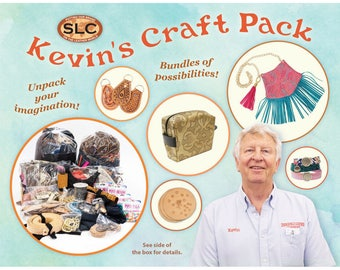 Kevin's Craft Pack, Assortment of Leather, Beads, Lace, Thread, Hardware, Jewelry, and all sorts of Goodies.