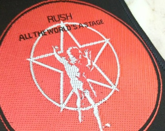 Rush , patch vintage  70 s , All the World's a Stage , rare !!!