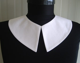 Wednesday Addams Detachable White Collar , Hand Made From Fine Cotton Fabric,Peter Pan  , Pilgrim Costume