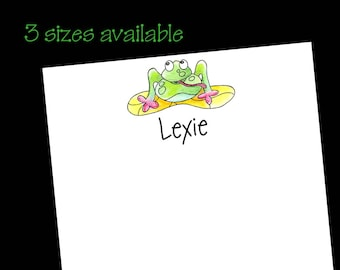 Personalized Frog Notepad // Frog Gift // Gift for Lakehouse ~ 3 sizes