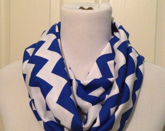 Royal blue chevron scarf- available in infinity and regular!