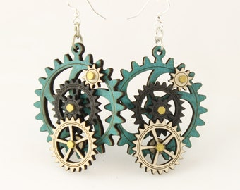 Kinetic Gear Earrings - 5003 E