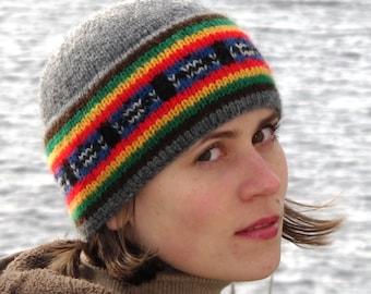 Joey's Fair Isle Beanie & Slouchy Hat PDF knitting pattern