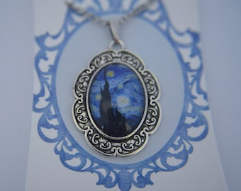 The Starry Night - Vincent Van Gogh painting necklace