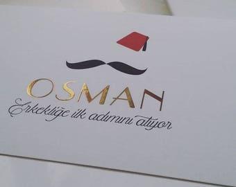 Fes and Moustache Parisian/Circumcision card
