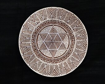 10% OFF Round lace doily/Circle Indian block printing stamps/wooden block for printing/ paper and fabric printing stamp