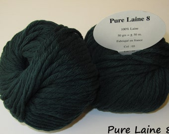 5 skeins of Pure wool soft / Made in France / tree