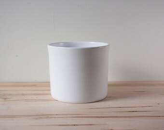 White glazed 7 inch planter