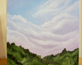 The Road Less Taken Acrylic Painting with Free US Shipping