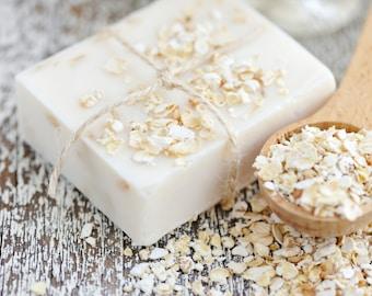 Oatmeal, Milk and Honey Soap - Triple Butter Soap - Oatmeal Soap - Shea Butter - Cocoa Butter - Mango Butter - Colloidal Oatmeal - Big Soap
