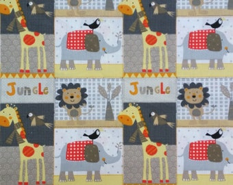 Kids fabric - Jungle animals... Fabric width 160cm