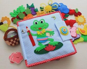 Quiet book Busy book handmade baby book cloth book for kid