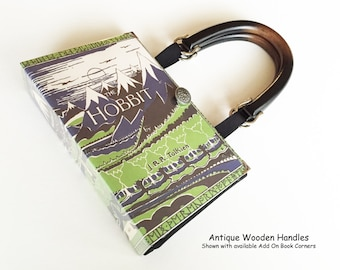 The Hobbit Book Purse - Lord of The Rings by JRR Tolkien Book Cover Handbag - Purse made from a book - Hobbit Book Clutch - Hobbit Gift