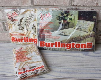 Vintage Vera for Burlington set of twin sheets new in package fitted sheet, flat sheet and 2 standard pillowcase