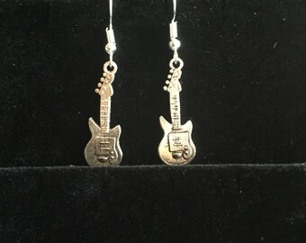 Guitar charm earrings