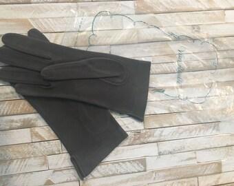 SALE--Vintage New Old Stock Soft Suede Van Raalte Gloves